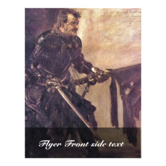 "Portrait Of Rudolf Rittner Than I. ""Florian Geyer"" Personalized Flyer"