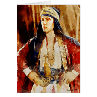Portrait of Rudolph Valentino as The Sheikh Card