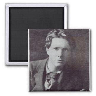 Portrait of Rupert Brooke 2 Inch Square Magnet