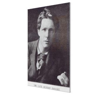 Portrait of Rupert Brooke Canvas Print