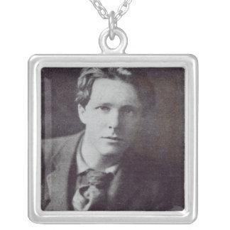 Portrait of Rupert Brooke Square Pendant Necklace