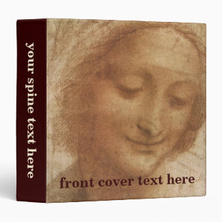 Portrait of Saint Anne by Leonardo da Vinci 3 Ring Binder