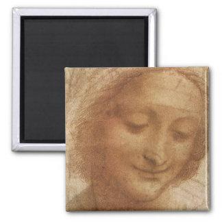 Portrait of Saint Anne by Leonardo da Vinci Refrigerator Magnets