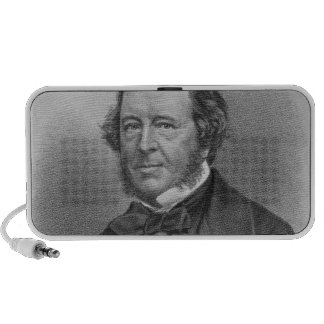 Portrait of Samuel Lover Portable Speaker