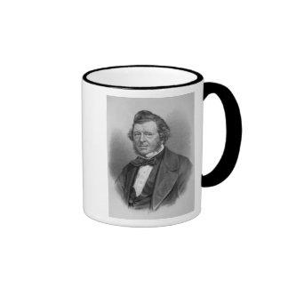 Portrait of Samuel Lover Ringer Coffee Mug