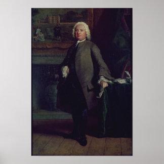 Portrait of Samuel Richardson  1750 Poster