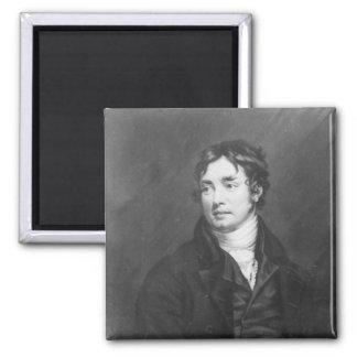 Portrait of Samuel Taylor Coleridge 2 Inch Square Magnet