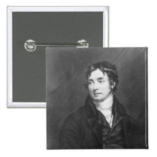 Portrait of Samuel Taylor Coleridge Button
