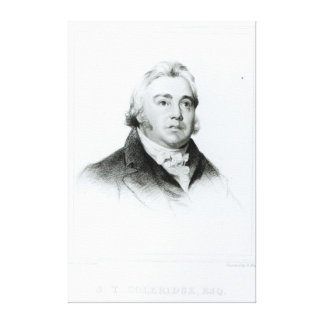 Portrait of Samuel Taylor Coleridge Canvas Print