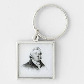 Portrait of Samuel Taylor Coleridge Keychain