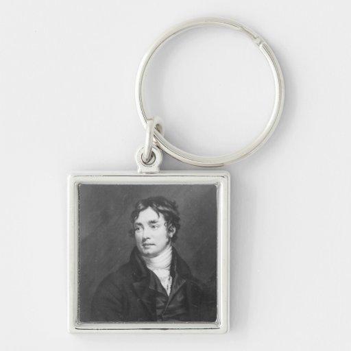 Portrait of Samuel Taylor Coleridge Keychains