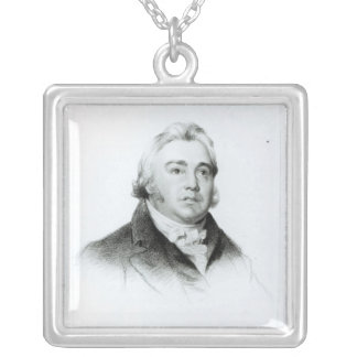 Portrait of Samuel Taylor Coleridge Silver Plated Necklace