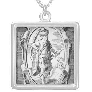 Portrait of Samuel Taylor Coleridge Square Pendant Necklace