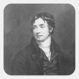 Portrait of Samuel Taylor Coleridge Square Sticker