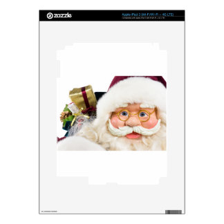 Portrait of Santa Claus face and presents iPad 3 Decal