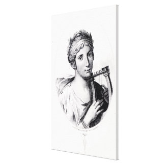 Portrait of Sappho Canvas Print