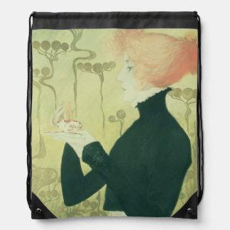 Portrait of Sarah Bernhardt Drawstring Bag