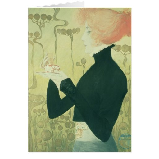 Portrait of Sarah Bernhardt Greeting Card
