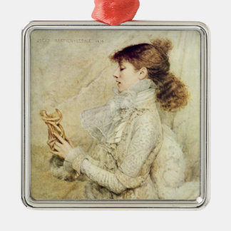 Portrait of Sarah Bernhardt Metal Ornament