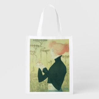 Portrait of Sarah Bernhardt Reusable Grocery Bag