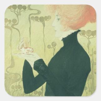 Portrait of Sarah Bernhardt Square Sticker