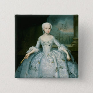 Portrait of Sarah Eleonor Fermor  1749-50 Pinback Button