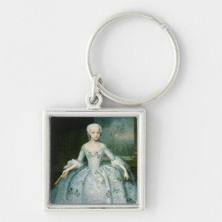 Portrait of Sarah Eleonor Fermor  1749-50 Silver-Colored Square Keychain