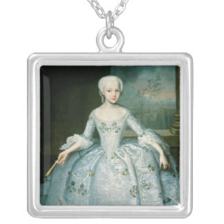 Portrait of Sarah Eleonor Fermor  1749-50 Silver Plated Necklace
