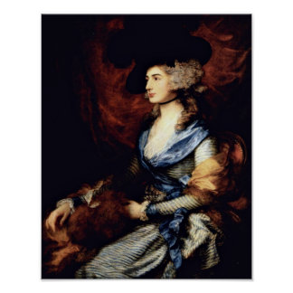 Portrait of Sarah Siddons by Thomas Gainsborough Poster