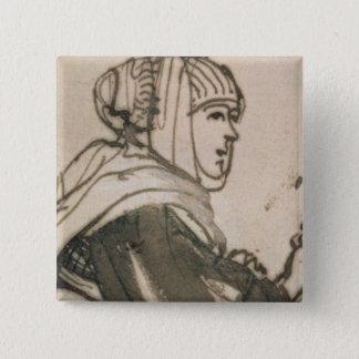 Portrait of Saskia, 1634 Pinback Button