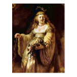 Portrait of Saskia as Flora by Rembrandt Postcard