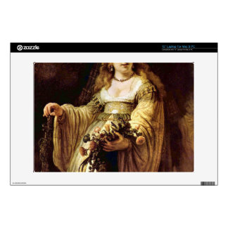 "Portrait of Saskia as Flora by Rembrandt Decals For 13"" Laptops"