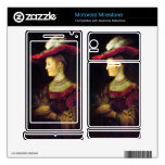 Portrait of Saskia  by Rembrandt Motorola Milestone Decal
