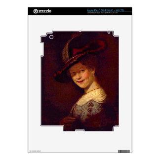 Portrait of Saskia van Uijlenburgh by Rembrandt Decals For iPad 3