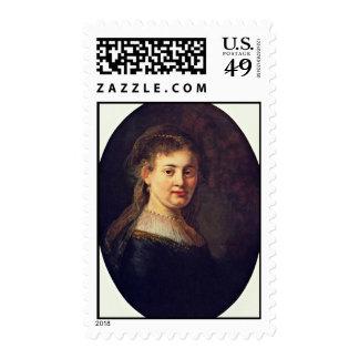 Portrait Of Saskia Van Uylenburgh. By Rembrandt Postage