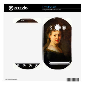 Portrait of Saskia with veil Oval by Rembrandt Skin For The HTC Evo 4G