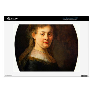Portrait of Saskia with veil Oval by Rembrandt Decal For Acer Chromebook