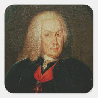 Portrait of Sebasiao Jose de Carvalho Square Sticker