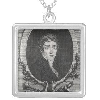 Portrait of Sebastian-Roch Nicolas Silver Plated Necklace