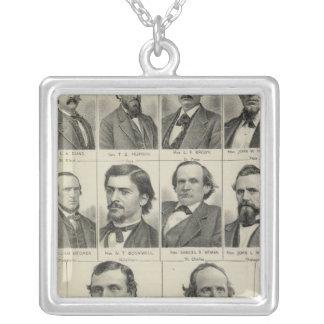 Portrait of Senators in Minnesota Silver Plated Necklace