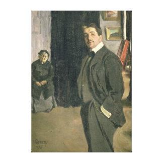 Portrait of Sergei Pavlovich Diaghilev Canvas Print