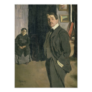 Portrait of Sergei Pavlovich Diaghilev Poster