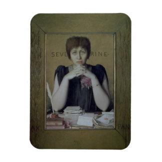 Portrait of Severine (Caroline Remy) (1855-1929) ( Rectangular Photo Magnet
