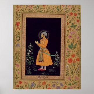 Portrait of Shah Jahan (1592-1666) Mughal, c.1632 Poster