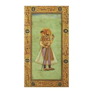 Portrait of Shah Jahan , 1631, Mughal Canvas Print