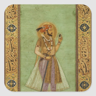 Portrait of Shah Jahan , 1631, Mughal Square Sticker