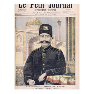 Portrait of Shah Mozzafer-ed-Din Postcard