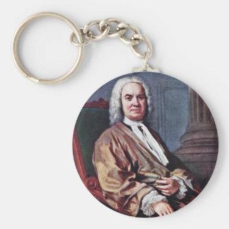 Portrait Of Sigismund Streit By Amigoni Jacopo Basic Round Button Keychain