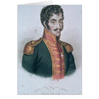Portrait of Simon Bolivar Card