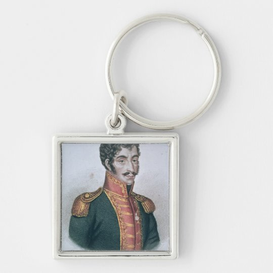 Portrait of Simon Bolivar Keychain